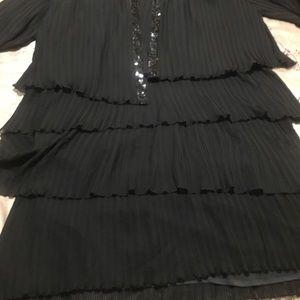 Roaman 28W layered evening dress